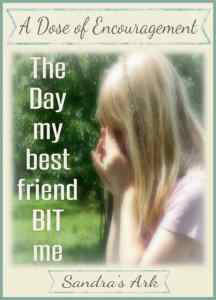 The Day my best friend bit me title pic 735x1020 framed & claimed