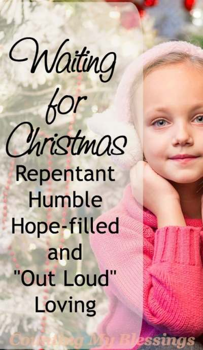 Do you remember waiting for Christmas as a child Eager anticipation... what does that look like now that you're the one preparing for Christmas.