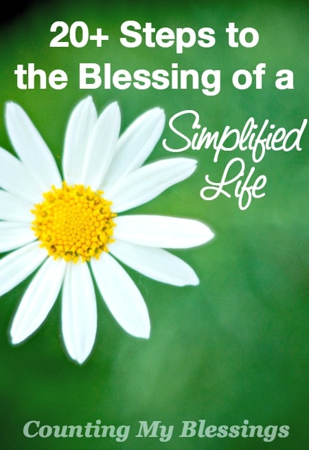 Life out of control? Here are steps to take with your finances and your stuff to enjoy the blessing of a simplified life.