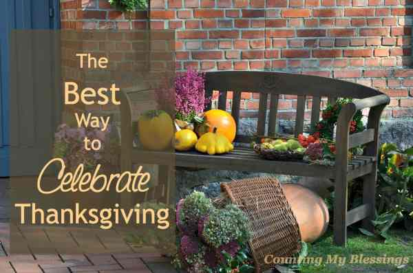 Why do you celebrate Thanksgiving Family Friends Good Food Sure, all of the above. But maybe, just maybe there's a little bit more...