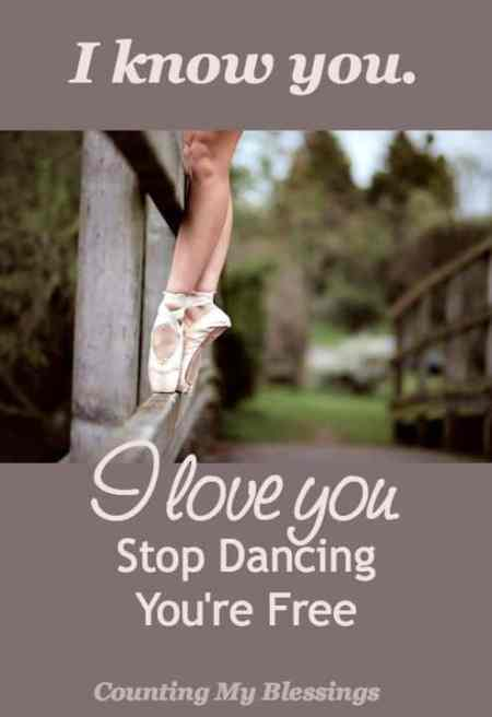 Stop dancing for the superficial; for imperfect love when God is offering perfect unfailing love and life.