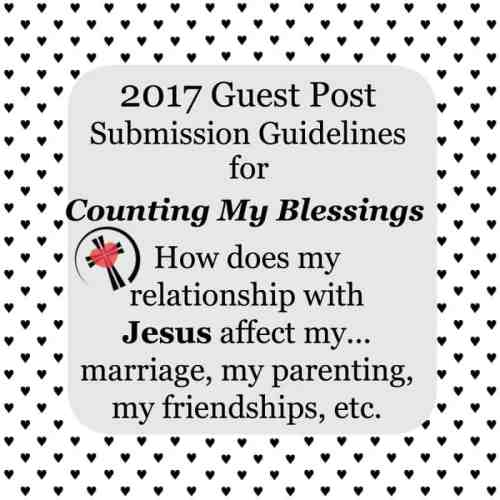 Counting My Blessings Guest Post Submission Guidelines