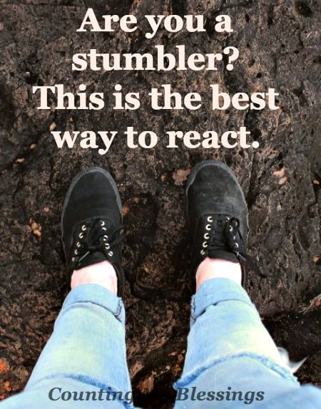 Are you a stumbler Me too. Now what What are stumblers to do How should they react Have questions . . . this is for you.