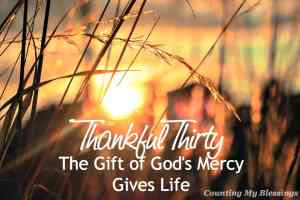 God's mercy is our punishment being pardoned because of Jesus death and resurrection.