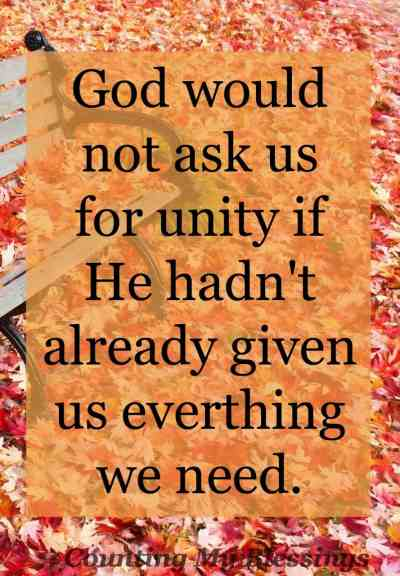 Jesus prayed for it. The apostles stressed it. Yet countless things work to divide us. Did you know we have everything we need to unite.