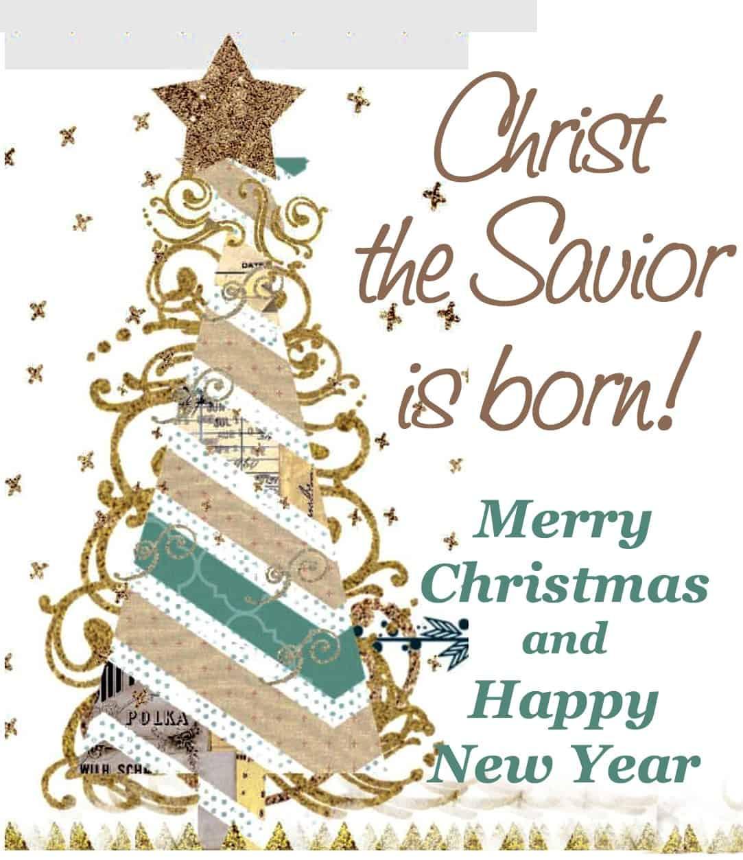 Merry Christmas Christian.Christ The Savior Is Born Merry Christmas Counting My