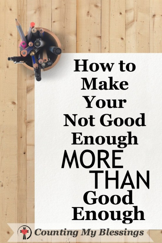 The world wants to tell you that you're good enough but God says we're not good enough. Thankfully He has given us a way to be more than good enough!