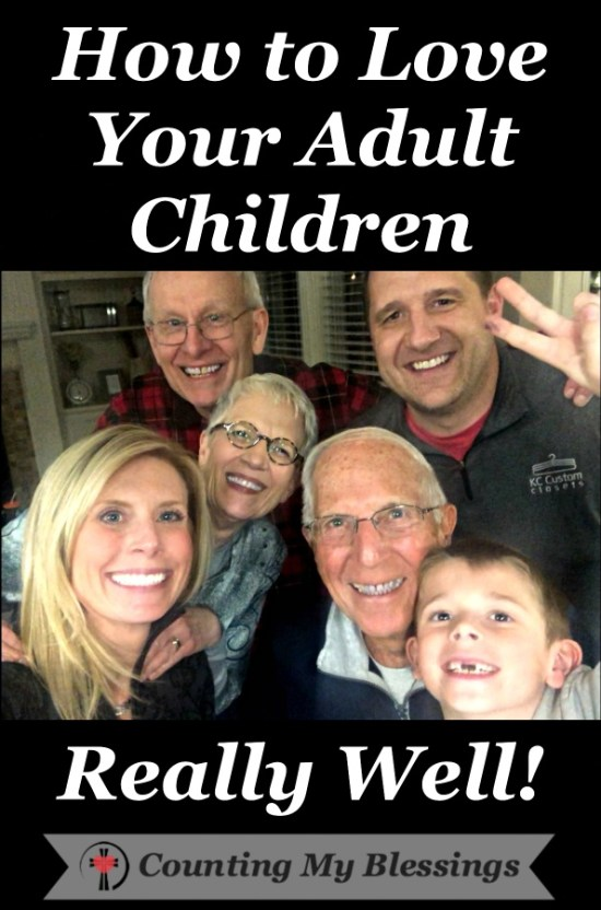 Here are a dozen tips to help you have the best relationship possible with your adult children! Tips that work for them and for you! #Children #Family #Parenting #CountingMyBlessings