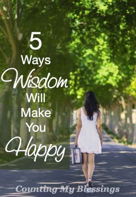 Everyone wants to be happy. Don't they? We may not all agree on how to get there, but I believe wisdom will make you happy.