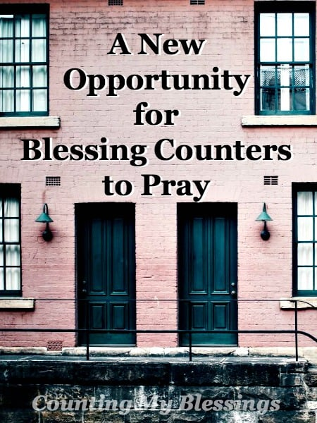 "I kept feeling the Lord tell me,""Don't just talk about prayer. Pray!"" Here's a new page and an opportunity for Blessings Counters to Pray."