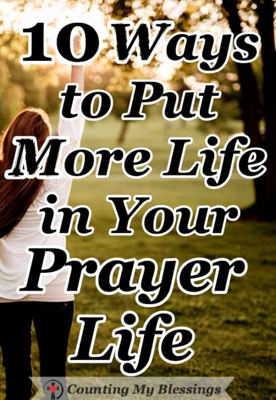 What exactly is a prayer-life anyway? Simply put - it is the private practice of prayer in your life. So, how's your prayer life? Too often the answer is: I know I should pray more, but... #Prayer #BibleStudy #LivingFaith #CountingMyBlessings #Jesus