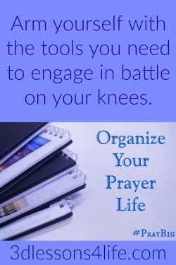 Organize Your Prayer Life