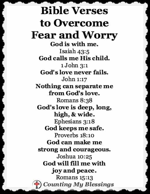 Fear and Worry – Counting My Blessings