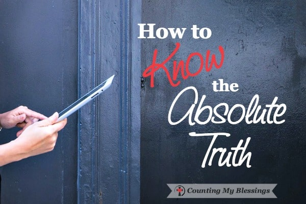 Is it possible to know the absolute truth. Find out here...