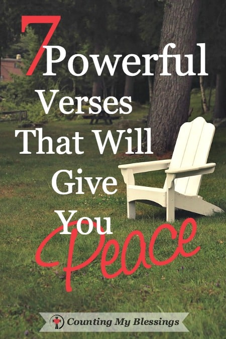 7 verses I hold close when I need to remember God's peace even when life is hard. He is able to give incomprehensible unimaginable peace.