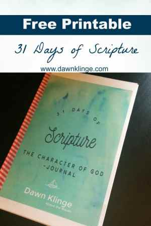 31 Days of Scripture by Dawn Klinge