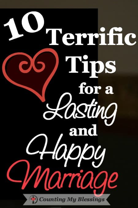 """It's been 45 years since we said, """"I do."""" We've been blessed with not only lasting but with happy, too. I'm sharing 10 favorite tips for a happy marriage."""