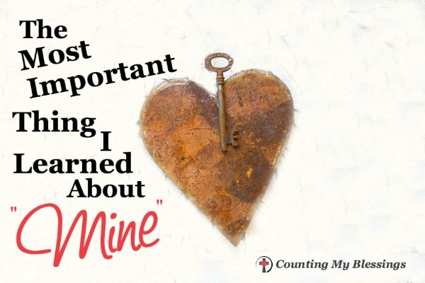 """There is nothing more personal or precious than being called someone's """"mine."""" We all crave that kind of close connection. Who calls you """"mine."""""""