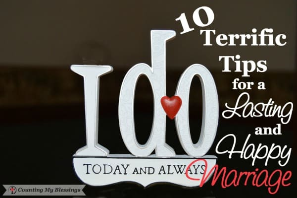 "It's been 45 years since we said, ""I do."" We've been blessed with not only lasting but with happy, too. I'm sharing 10 favorite tips for a happy marriage."