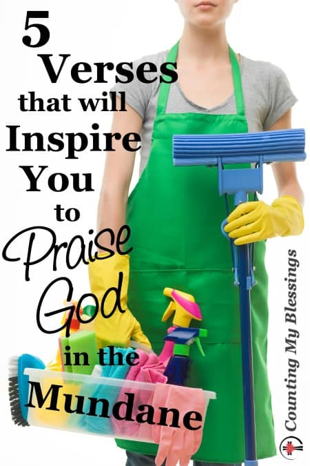 5 Verses that will Inspire You to Praise God in the Mundane by Deb Wolf