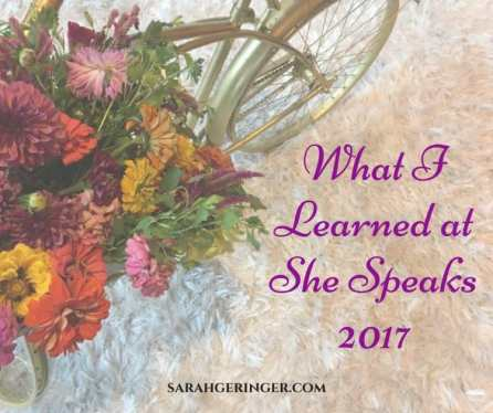 What I Learned at She Speaks 2017 by Sarah Geringer