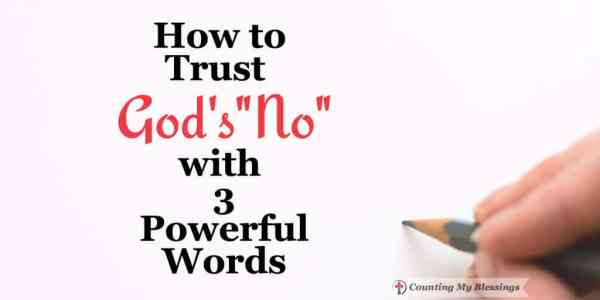 "You've prayed and prayed and God seems silent, now what? How do you trust God when He says ""no"" to your passionate pleas."