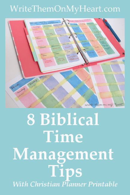 8 Biblical Time Management Tips by Alyson