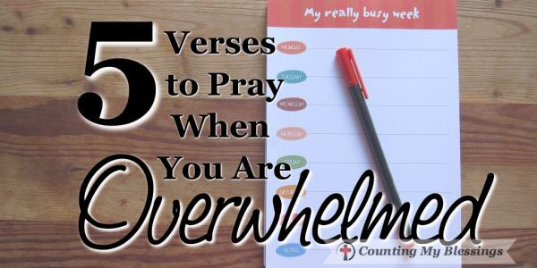 """""""Sometimes when we get overwhelmedwe forget how big God is."""" ~ AW Tozer 5 Verses to Pray When You Are Overwhelmed"""