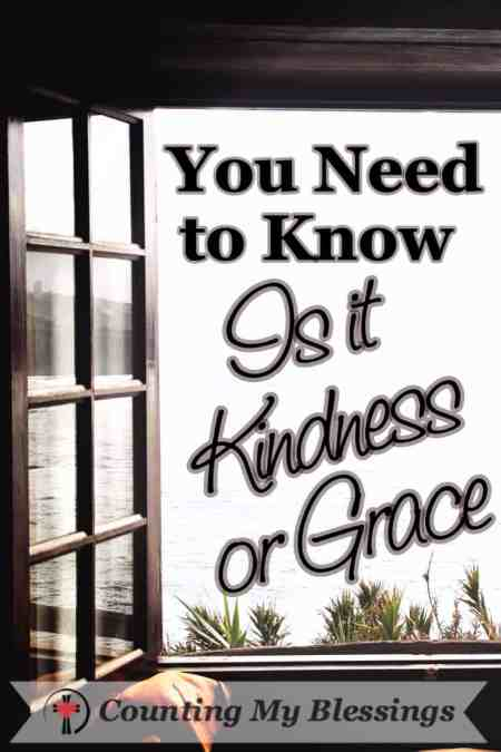 Kindness is a caring gesture. It's compassion. Grace is harder. Grace is sacrificial. Grace is love in put into action. You Need to Know - Is it Kindness or Grace? Counting My Blessings
