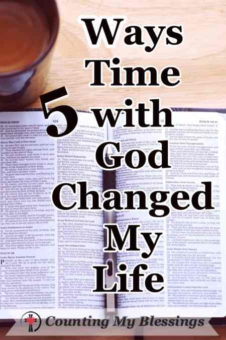Having a daily time with God changed my life, but it didn't start that way. #Bible #Prayer #Faith