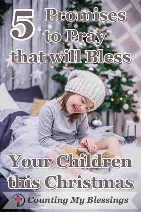5 verses to pray for yourself and your children. Stop. Breathe. Use the days ahead to prepare to receive the gift of Jesus with an open heart. #Christmas #Prayer