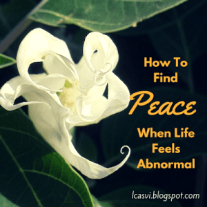 How to Find Peace When Life Feels Abnormal by Carlie Lake