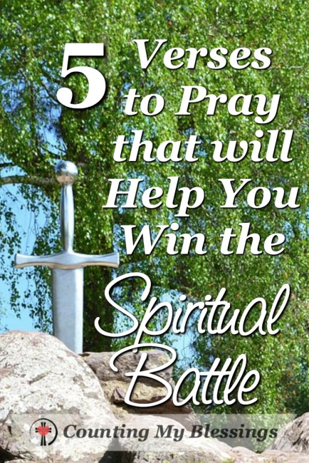 The sword of the Spirit is God's Word and praying it will help you win the spiritual battle you face today. #Prayer #BlessingBloggers