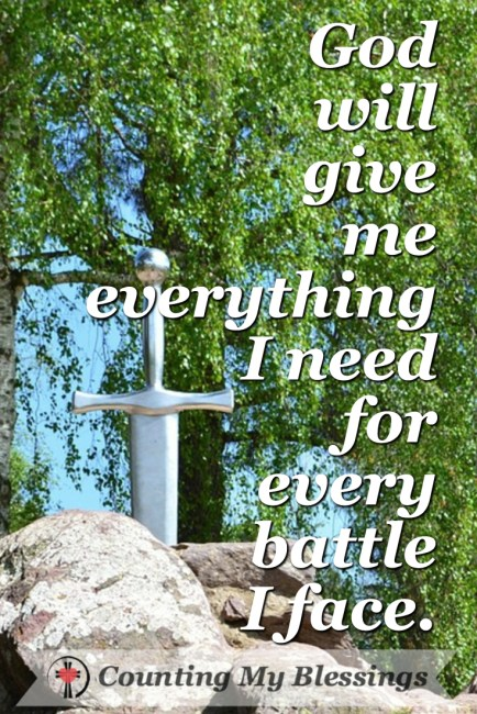 5 Verses to Pray the will Help You Win the Spiritual Battle by Deb Wolf at Counting My Blessings #SpiritualWarfare #Prayer