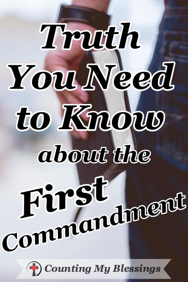 """A closer look at the First Commandment and what having """"no other gods"""" means for you and me. #BibleStudy #Faith #ChristianCommunity"""