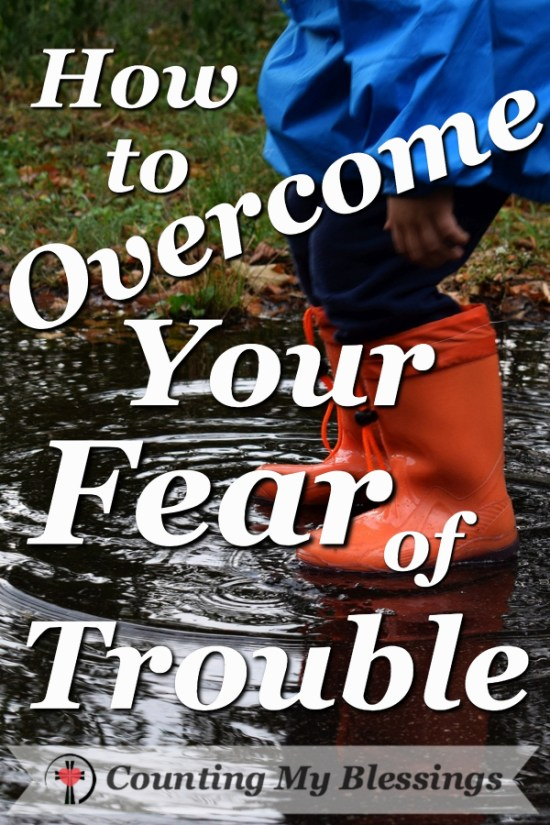 Jesus said, in this world we would have trouble but He has overcome it ... you and I can trust god and live without fear!