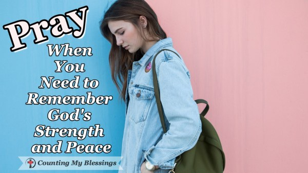 When life is hard, you and I need strength and peace. What a blessing to know when we go to God in prayer, He is both willing and able to help us. #Prayer #Faith #Hope