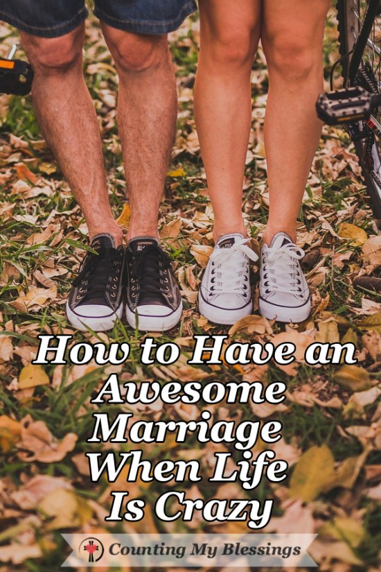 You want to have an awesome marriage but you're both crazy busy and there's no time to talk. These tips helped us when we were overworked and stressed out.