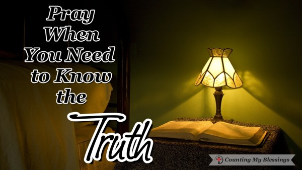 When I need to know the truth, I trust the One who is Truth and turn to Him in prayer asking Him to reveal His truth in His way and His timing.