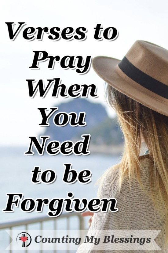 "You know you fall short of God's will. You know you need to be forgiven but you don't know what to pray beyond ... ""I'm sorry. Please forgive me."""