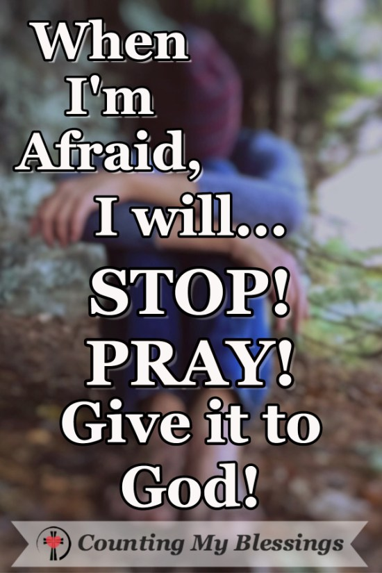 When You Need to Reject Fear - PRAY! by Deb Wolf @ Counting My Blessings