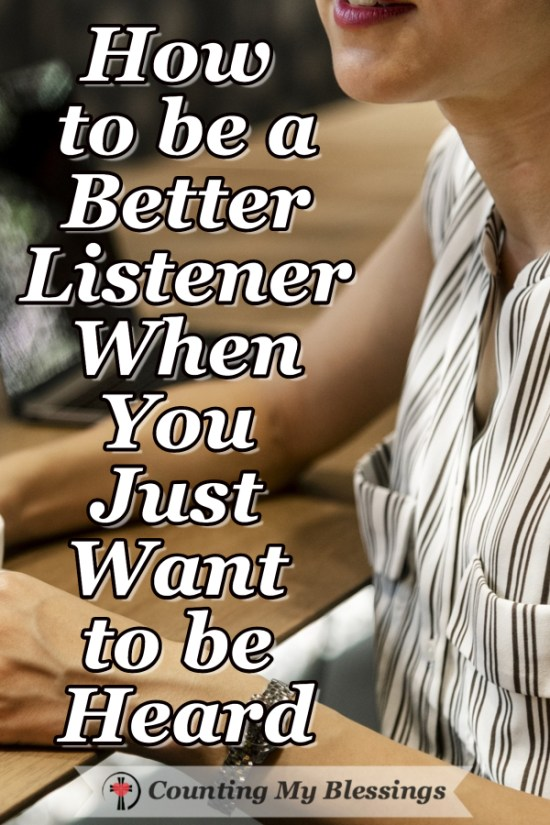 It's important to know how to share your opinions well. It's even more important to know how to be a better listener when they share theirs. #Listen #Blessings #Community #Jesus