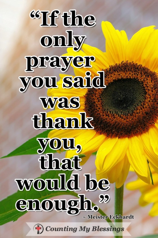 I want to thank and praise God for who He is even more than for the things He does ... these 7 verses help me pray with a grateful heart. #Prayer #Thanksgiving #Gratitude #BlessingsBloggers #BlessingCounter