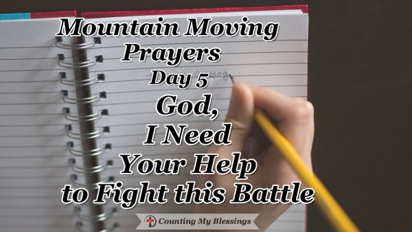 Sometimes it feels like the enemy is winning but that's a lie. You and I need God's help, who won the victory already to help us fight this battle. #MountingMovingPrayers #Faith #Pray #BlessingCounter