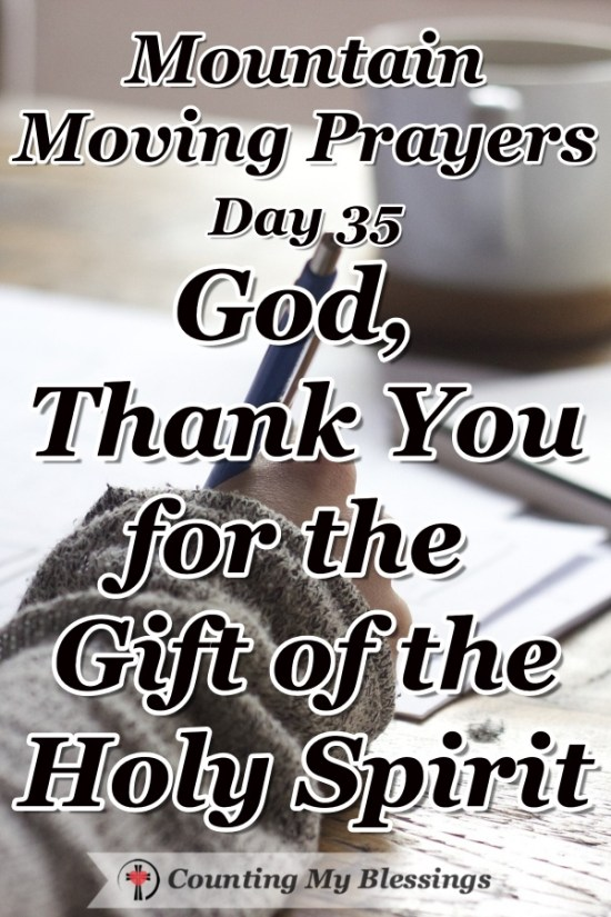 Sometimes I need to simply stop and thank God for all the blessings He gives to me every day through the gift of the Holy Spirit! #Faith #Prayer #Bible #MountainMovingPrayers #BlessingCounter