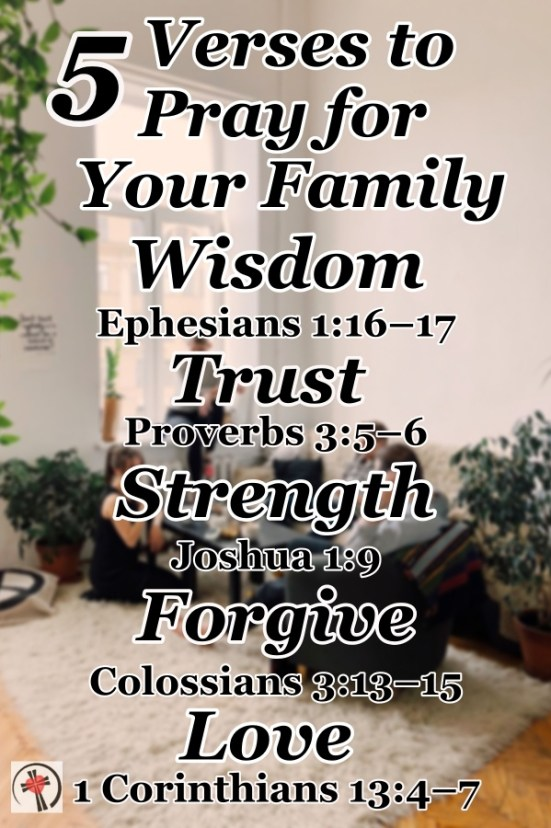 The number one prayer request I receive is for the healing of broken family relationships. So, here are verses to pray for your family to bless and strengthen your bond. #PrayforStrength #PrayforChildren #BiblePrayers #BibleVerses #Blessings