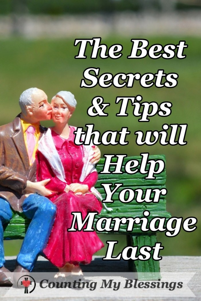 The Best Secrets & Tips that will Help Your Marriage Last by Deb Wolf at Counting My Blessings