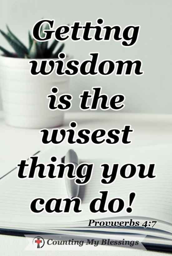 You want to know the wise thing to do and do it. But you also know you've got some growin' to do ... things to do when you need to be wise. #BibleStudy #BeWise #Faith #SeekGodFirst #ChristianBlogger #CountingMyBlessings