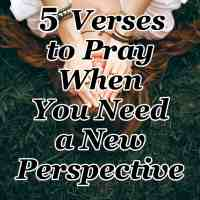 5 Verses to Pray When You Need a New Perspective