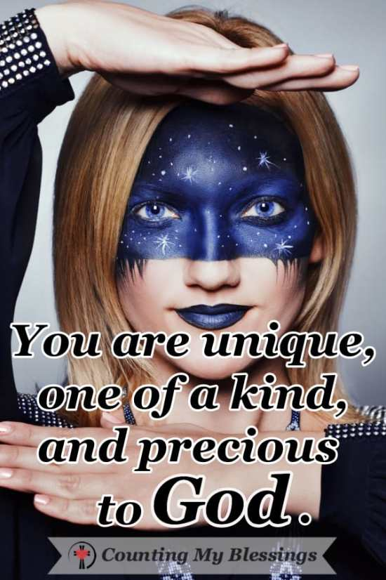 You are more than an avatar. You are more than the sum of your gender, race, religion, income, and education. You are unique and precious to God. #Avatar #Unique #BeautifulPeople #OneofaKind #Believe
